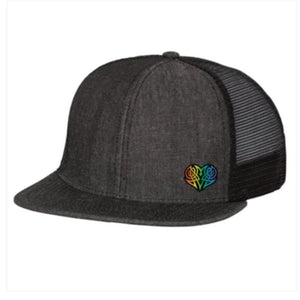 BLACK DENIM SNAPBACK