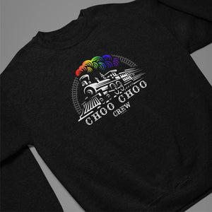 CHOO CHOO CREW SWEAT SHIRT BLACK /Crew/Hood