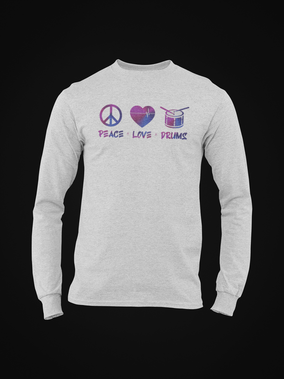 PEACE LOVE DRUMS LONG SLEEVE TEE