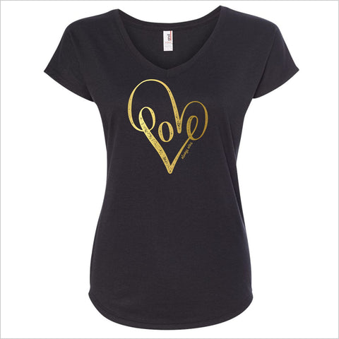 LOVE ALWAYS WINS V-NECK T-SHIRT