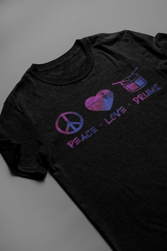 PEACE LOVE DRUMS UNISEX tee *multiple colors / avail