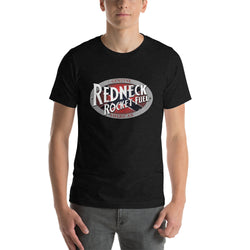 Vintage Rebel Flag Redneck Rocket Fuel Logo Short Sleeve T-shirt