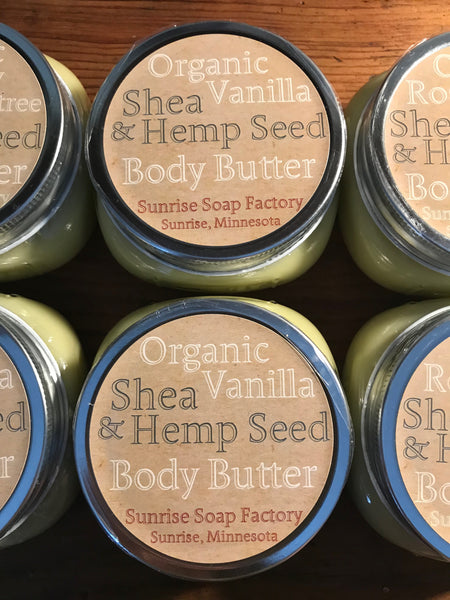 Shea & Hempseed body butter 8oz.