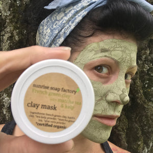 Facial Mask-French Green Clay with Organic Matcha + Kelp