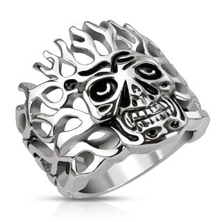 Ablazed Skull Ring