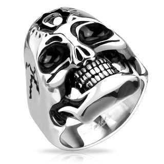Frankenstein Skull Cast Ring Stainless Steel