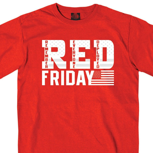 Red Short Sleeve Friday Shirt