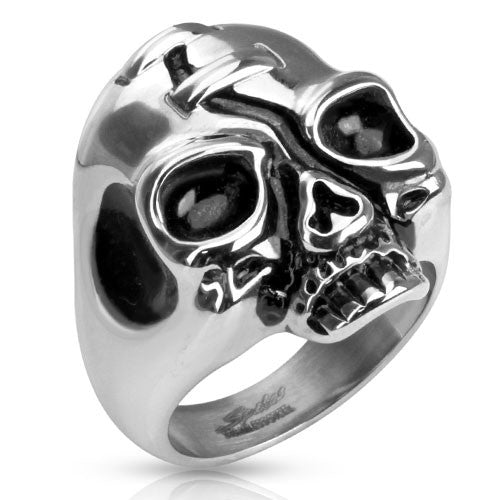Skull Casted Stainless Steel Biker Ring