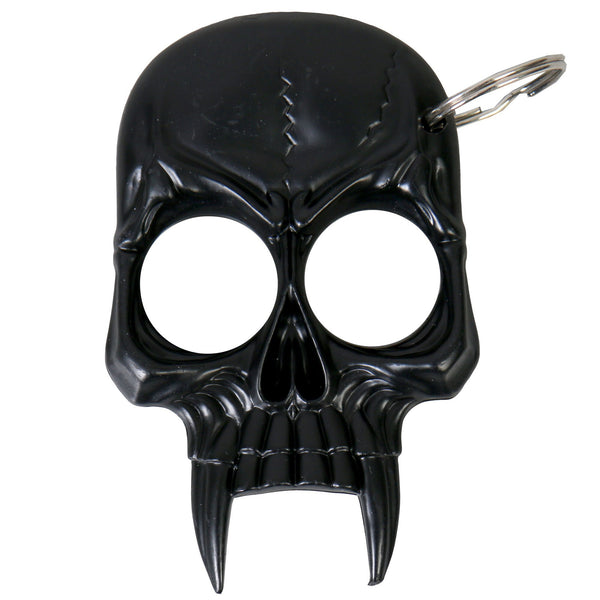 Black Skull Defense Key Chain