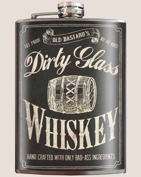 Dirty Glass Whiskey - Flask
