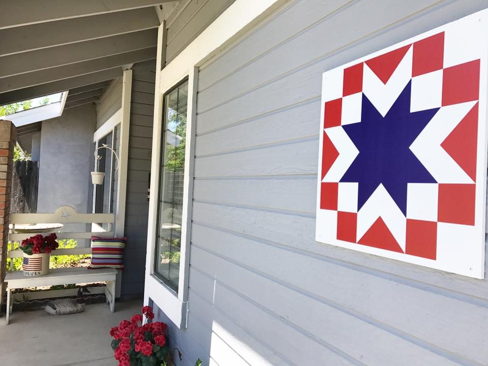 Valor outdoor barn quilt from Put a Quilt on It