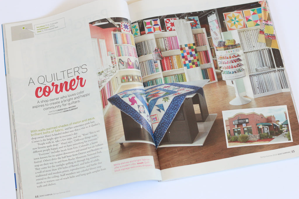 A Quilter's Corner in Quilt Sampler Magazine