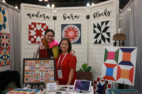 Anna Maria Horner at Put a Quilt on It booth at Quiltcon 2018