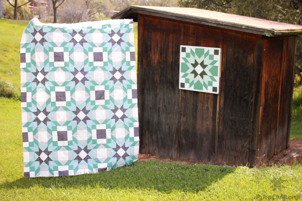 Cruz quilt next to Cruz Barn Block by Put a Quilt on It