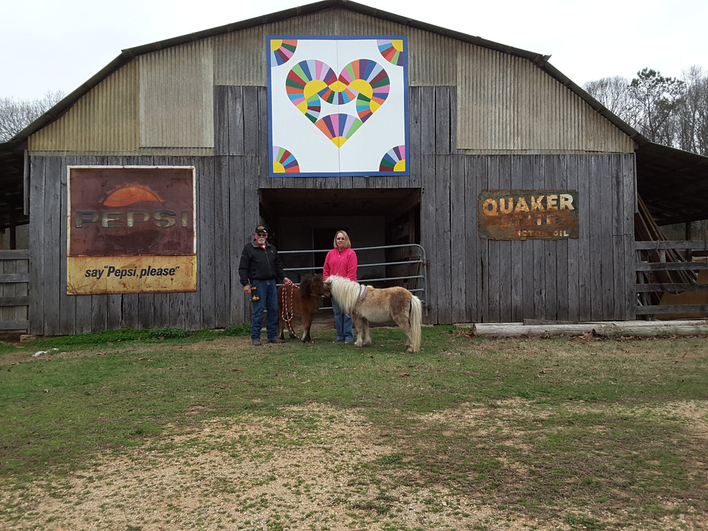 Fran and Kenneth Michael Barn Quilt on the Alabama Barn Quilt Trail