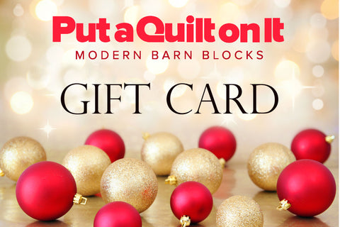 Gift Card from Put a Quilt on It