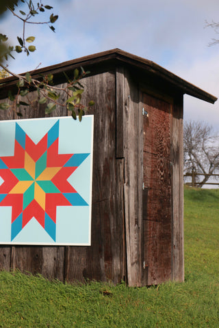 Put a Quilt on It - Initial barn quilt test