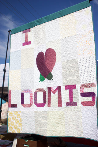 I Heart Loomis Eggplant Quilt from Put a Quilt on It