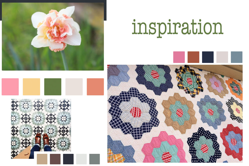 Inspiration board for Put my quilt on it