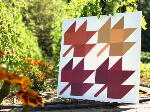 Maple Leaf - a fall themed modern barn quilt from Put a Quilt on It