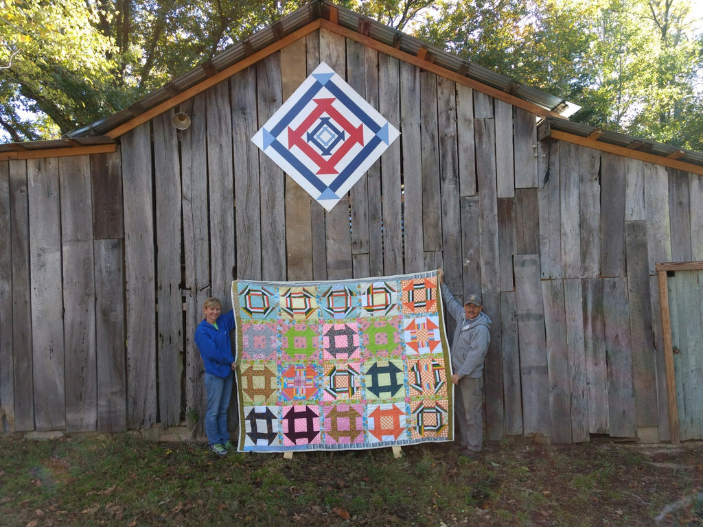 Mark and Amanda Sharp Barn Quilt in Cloverdale Alabama