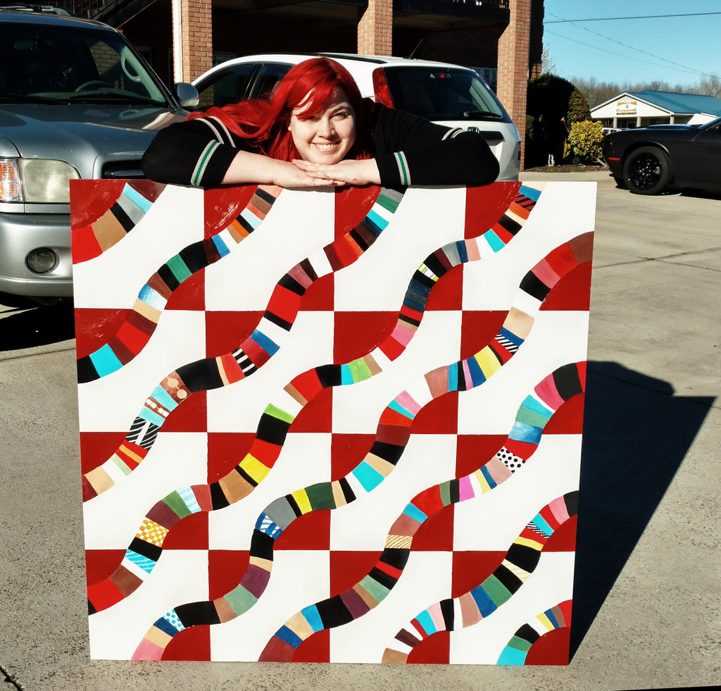 Naomi Skye Artist with the Alabama Barn Quilt Trail