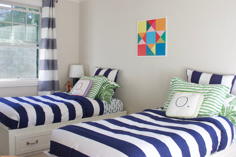 Play Room - Modern Barn Quilt for sale . Dress up your kids room with this fun playful modern quilt design