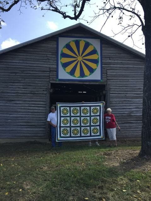 Alabama Barn Quilt inspired by heirloom quilt