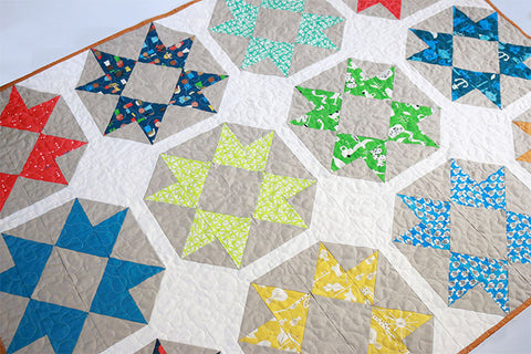 Spectacle Quilt with Cotton and Steel fabric by Put a Quilt on It