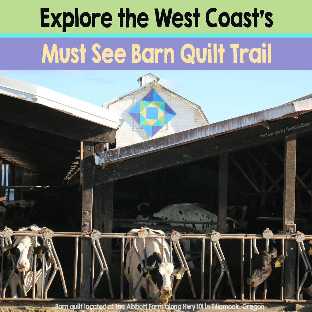 See some incredible barn quilts on display in Tillamook, Oregon