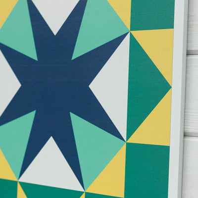 Winner of the PutMYquiltonit barn quilt design contest from Put a Quilt on It