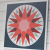 Courage - a hex sign inspired Modern Barn Quilt by Put a Quilt on It