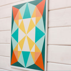 Shades of green, gold and orange - a new barn quilt available from Put a Quilt on It