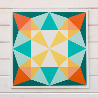 Front Porch - a fresh all-weather modern barn quilt for sale from Put a Quilt on It