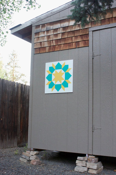 Garden View Modern Barn Quilt for sale from Put a Quilt on It