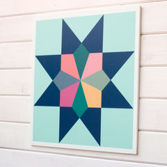 Heirloom - inspired by vintage quilts, a Modern Barn Quilt from Put a Quilt on It