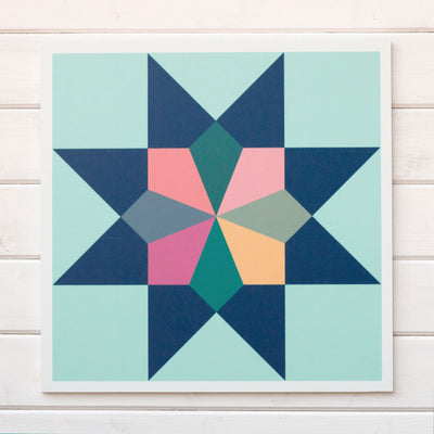 Heirloom - a vintage modern barn quilt from Put a Quilt on It