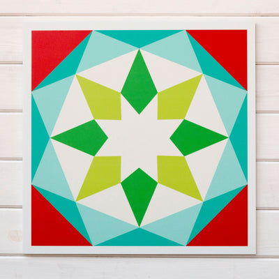 Noel -  a cheerful holiday Modern Barn Quilt from Put a Quilt on It