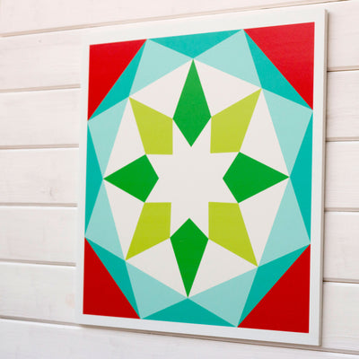 Noel - a Modern Christmas barn quilt from Put a Quilt on It