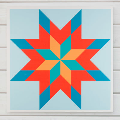 Summer House Modern Barn Quilt from Put a Quilt on It