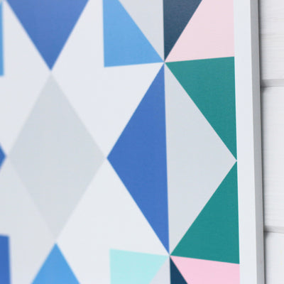 Up close look at Topanga modern barn quilt