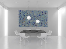 Abstract paintings, Wall Art, - MEDITARRANEAN BLUES -