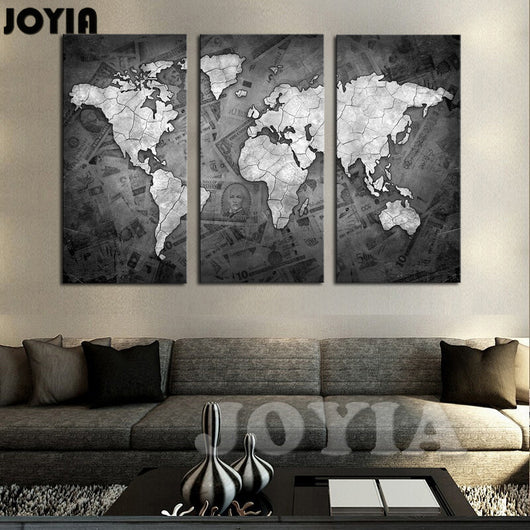 large world map wall art canvas gifts and gadgets