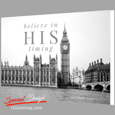 Believe In His Timing Framed Canvas Print