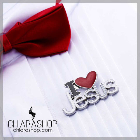 Charm I Love Jesus Metal Brooches