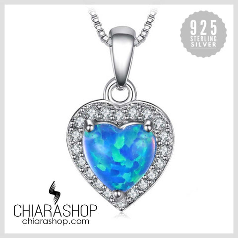 Beautiful Heart 0.3ct Cabochon Created Black Opal Pure Solid 925 Sterling Sliver Pendant