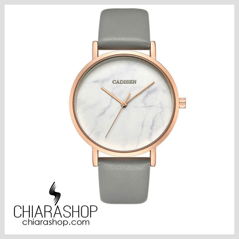 Cadisen Top Brand Thin Casual Marble Dial Woman Leather Watch
