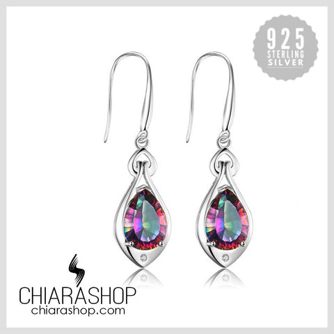 6.8ct Rainbow Brazil Topaz 925 Sterling Silver Earrings