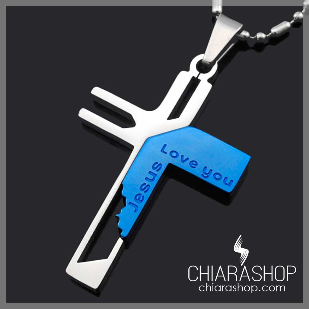 High Quality Stainless Steel 316L Jesus Love You Necklace