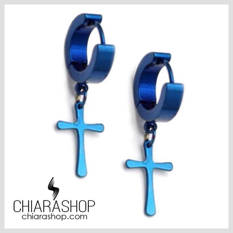 Chiarashop New Fashion 15Mm Titanium Steel Cross Earring